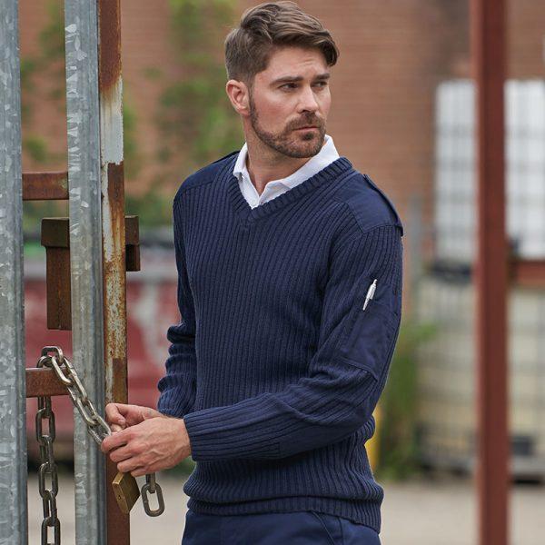 Security Sweatshirt Pullover besticken bedrucken Herren