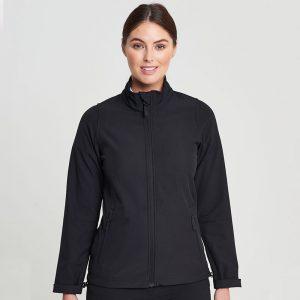Arbeitsjacke schwarz Reissverschluss Front Damen
